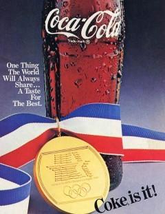 Coca Cola Olympischer Hauptsponsor 1984