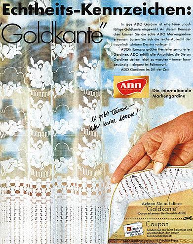 ADO Gardine mit der Goldkante   Erinnerst Du Dich?
