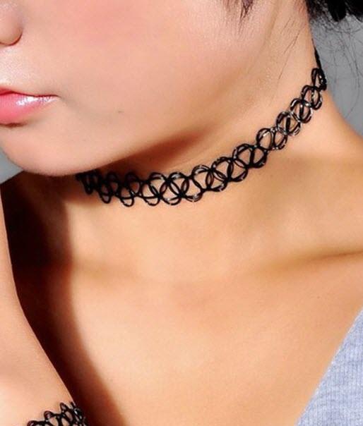 Tattoo Halskette Choker 90er Jahre