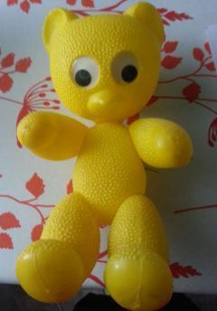 Plastik Teddybär mit Wackelaugen
